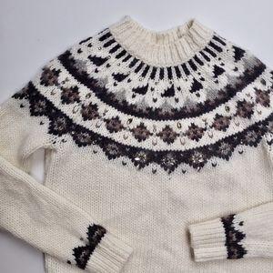Loft Embellished Alpaca Wool Blend Sweater